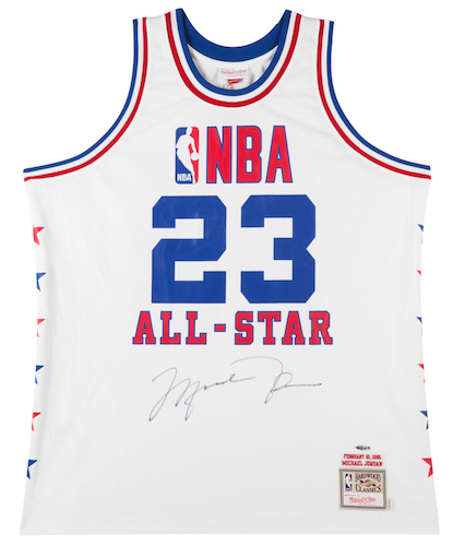 e7c7a1e4b69 MICHAEL JORDAN Autographed 1985 Mitchell & Ness NBA All Star Authentic  Jersey - Upper Deck Authenticated