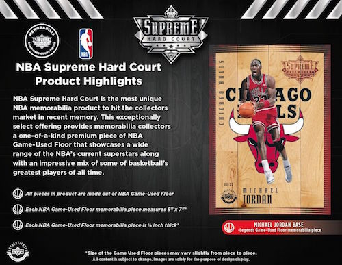 the best attitude fd2fd df9be Details about Upper Deck Authenticated 2018 Supreme Hardcourt Sealed Box 2 Packs  Jordan UDA