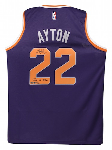 """DEANDRE AYTON Autographed and Inscribed """"Time To Rise"""" Purple Nike Phoenix  Suns Swingman Jersey - Limited Edition of 22 - Game Day Legends   Steiner  Sports ... 90c74ed64"""