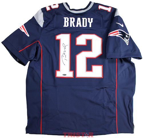 f59966ac5 TOM BRADY Autographed New England Patriots Nike Elite Authentic Jersey -  TRISTAR PRODUCTIONS